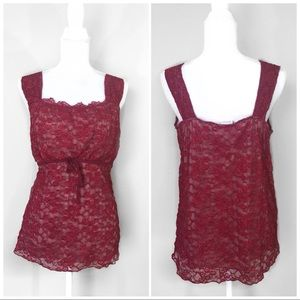 Lane Bryant | Red Lace Cami Blouse